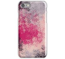 pink purple and black flowers abstract background iPhone Case/Skin