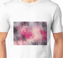 pink purple and black flowers abstract background Unisex T-Shirt