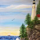 Lighthouse Cliff by L.W. Turek