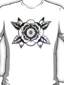 Geometric Flower Tattoo Flash Design T-Shirt