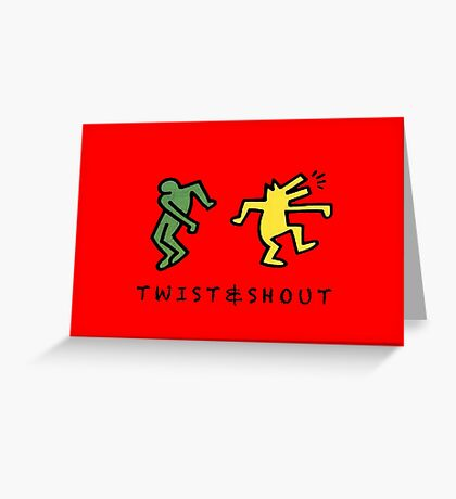 Twist & Shout - Keith Haring Greeting Card