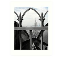 Empire State Building and Freedom Tower Art Print
