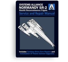 SR2 Service and Repair Manual Canvas Print