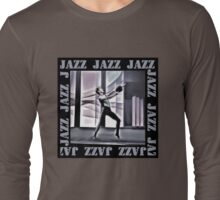 Jazz On Stage - Grey Long Sleeve T-Shirt