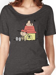 Earthbrown: A Boy and his Saturn Women's Relaxed Fit T-Shirt