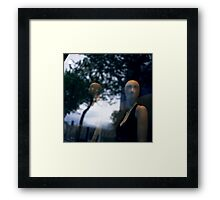 Surreal shop dummy mannequin portrait square color analogue medium format film still life Hasselblad  photo Framed Print
