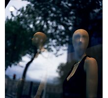Surreal shop dummy mannequin portrait square color analogue medium format film still life Hasselblad  photo Photographic Print