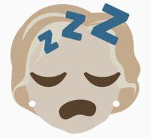 "Hillary ""The Emoji"" Clinton Sleepy ZZZ Face Baby Tee"
