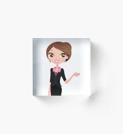 Office woman : New black suit woman Acrylic Block