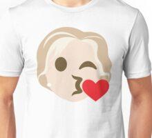 "Hillary ""The Emoji"" Clinton Flirting and Blowing Kiss Unisex T-Shirt"