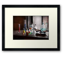 Science - Chemist - Chemistry Equipment  Framed Print