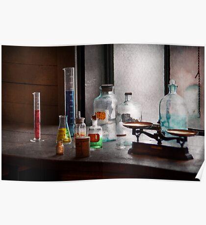 Science - Chemist - Chemistry Equipment  Poster