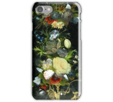 Victorian Flowers Inlaid Mother Of Pearl iPhone Case/Skin
