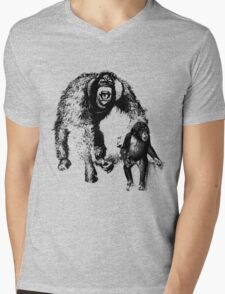 vector monkey Mens V-Neck T-Shirt