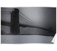 Brooklyn Bridge Blizzard Poster