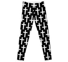 Black/White Crosses Leggings