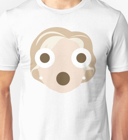 "Hillary ""The Emoji"" Clinton Shocked and Surprised Look Unisex T-Shirt"