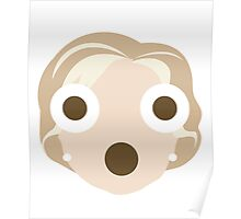 "Hillary ""The Emoji"" Clinton Shocked and Surprised Look Poster"