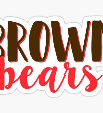 Brown Bears Sticker