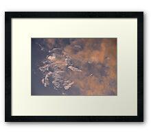 Marbled Clouds Framed Print