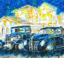 1932 Chevy Truck VS 1940 Ford Deluxe Coupe by artxr