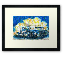 1932 Chevy Truck VS 1940 Ford Deluxe Coupe Framed Print