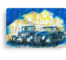 1932 Chevy Truck VS 1940 Ford Deluxe Coupe Canvas Print
