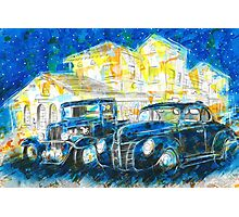 1932 Chevy Truck VS 1940 Ford Deluxe Coupe Photographic Print