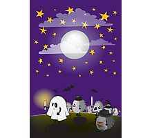 halloween hedgehogs party gang Photographic Print