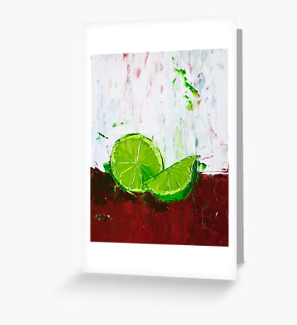Zesting a Lime Greeting Card