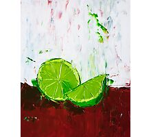 Zesting a Lime Photographic Print