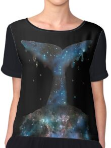 Galactic Whale Chiffon Top