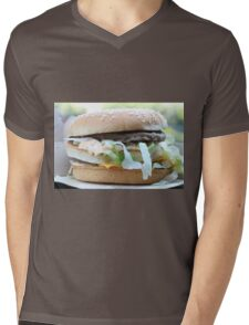 McDonalds Big Mac Attack Mens V-Neck T-Shirt