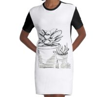 Agave Pots  Graphic T-Shirt Dress