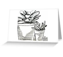 Agave Pots  Greeting Card