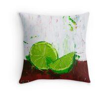 Zesting a Lime Throw Pillow