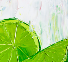 Zesting a Lime Sticker