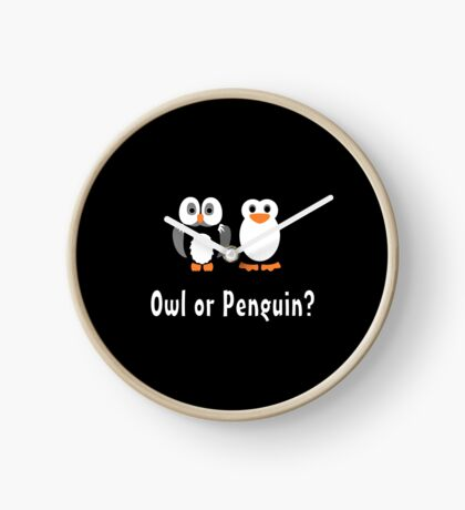 Owl & Penguin Clock