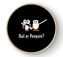 Owl & Penguin Clock