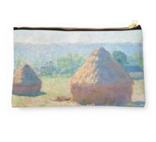Haystacks, end of Summer by Claude Monet Studio Pouch