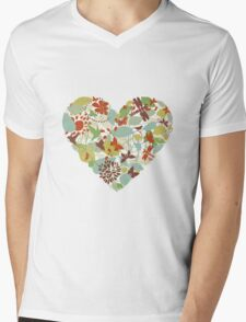 Plant heart Mens V-Neck T-Shirt