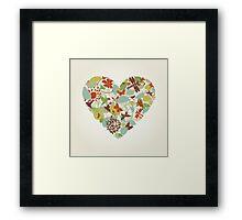 Plant heart Framed Print