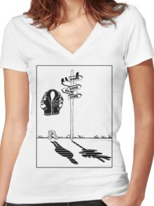 'Get Home' Women's Fitted V-Neck T-Shirt