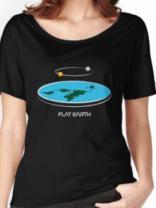 Flat Earth Theory Diagram Women's Relaxed Fit T-Shirt