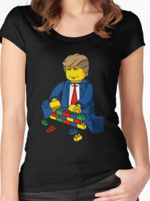 Build A Wall Trump T-Shirt T-Shirt Women's Fitted Scoop T-Shirt