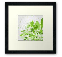 Plant music Framed Print