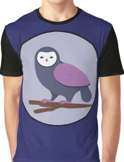 Cool Night Owl  Graphic T-Shirt
