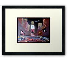 ELVIS in Times Square Framed Print