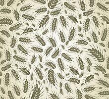 Wheat a background by Aleksander1