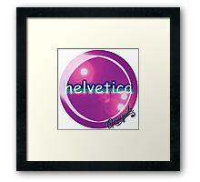 helvetica sample for cool designers Framed Print